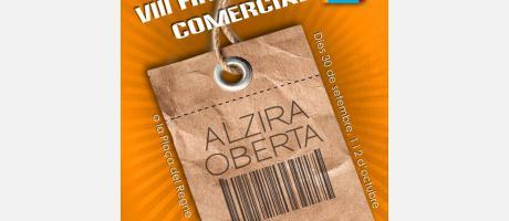 Cartel VIII Feria Comercial Alzira Oberta 2016