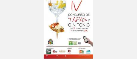 CARTEL IV CONCURSO DE TAPAS Y GIN TONIC ORIHUELA HISTORIA DEL MEDITERRÁNEO