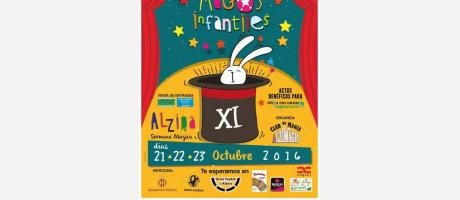 Cartel XI Encuentro Nacional de Magos Infantiles Alzira