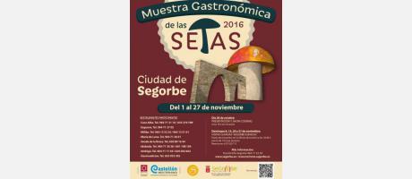 Cartel Muestra Gastronómica Setas de Segorbe