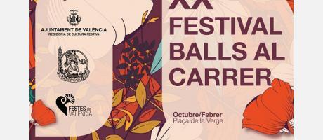 XX Festival Balls al carrer cartel oficial con flores y bailando