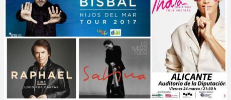 Conciertos en la ciudad de Alicante 2017