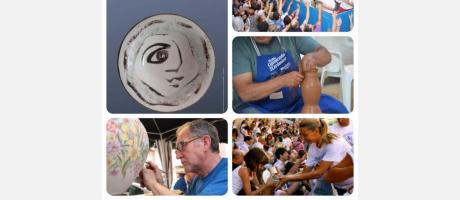 Montaje con varias imágenes artesanos en la Festa de la Ceràmica