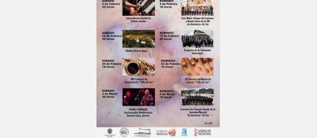 Cartel de la XV edición de Febrero Musical en Cox