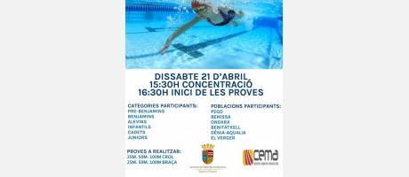VII Liga comarcal de natación EPNDB