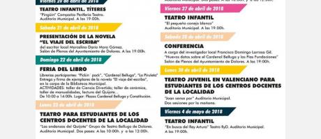 agenda cultural abril - junio 2018