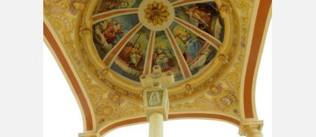 Pinturas de la bóveda de la cruz del santuario de Balmes