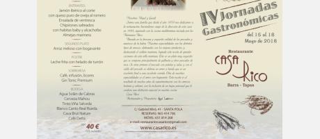 Jornadas Gastronómicas Casa Rico