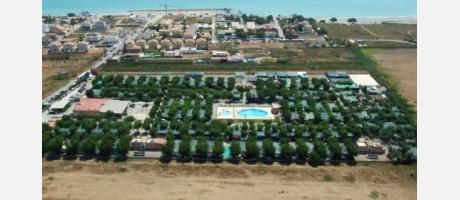 Vista aérea del Camping Los Naranjos