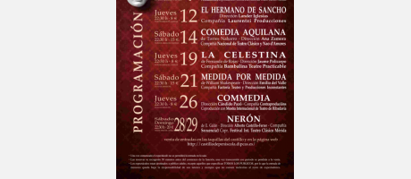 XXI Festival Teatro Clásico Peñíscola