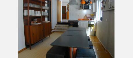 La cocina del hostel está a tu disposición