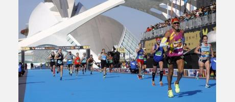 Llegada del Maratón de València