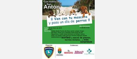 """V Marcha canina """"Senda del mar"""" Con motivo de San Antón en Pilar de la Horadada"""