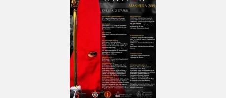 cartel con programa de Semana Santa
