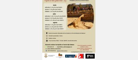 programación visitas guiadas al yacimiento íbero La Celadilla