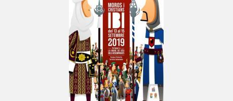 Cartel Anunciador Fiestas de Moros y Cristianos de Ibi 2019