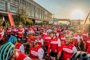 Salida de la Marcha Ciclista Ciudad Valencia