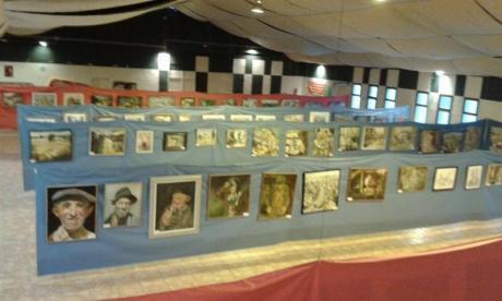 Muestra una parte de las obras de la exposición de pintura