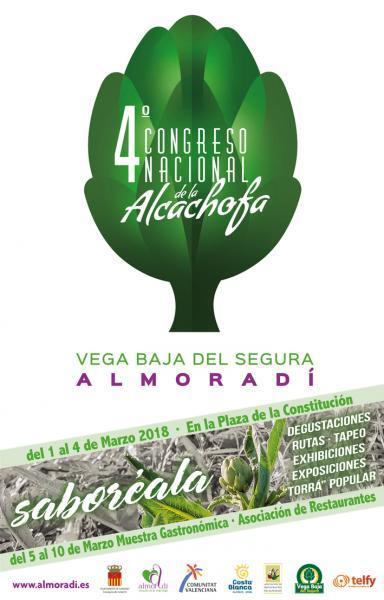 Cartel 4º Congreso de la Alcachofa en Almoradí