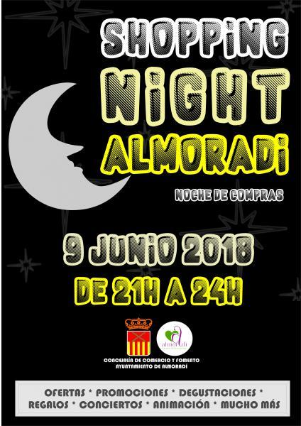 Cartel Shopping Night Almoradí 2018