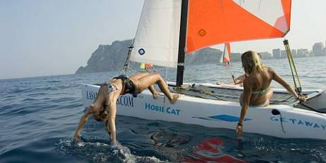 Sailing in Calpe