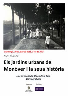 cartel ruta jardines urbanos