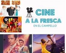 Cartel anunciador del cine de verano en El Campello