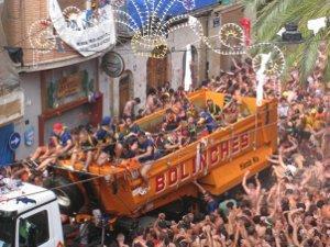 La Tomatina festival in Valencia
