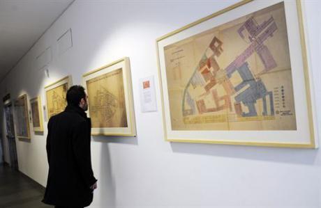 Colección de seis bocetos arquitectónicos del antiguo Hospital General valenciano en el MuVIM de Valencia
