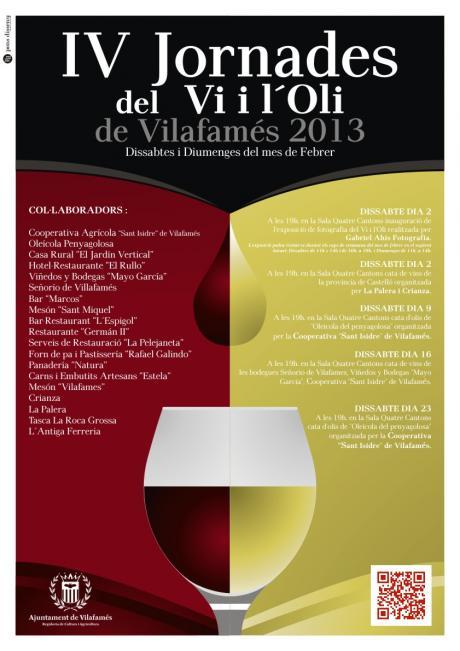 IV Jornades del vi i de l´oli a Vilafamés.