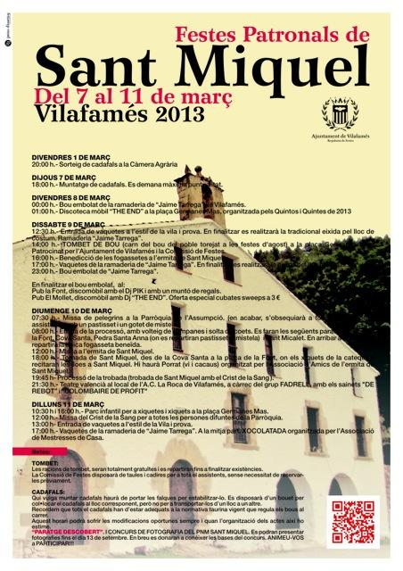 Fiestas Patronales Sant Miquel. Vilafamés 2013.