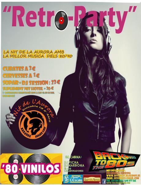Retro-Party Fiesta 80 vinilos en la noche de la Aurora de Cullera 2013