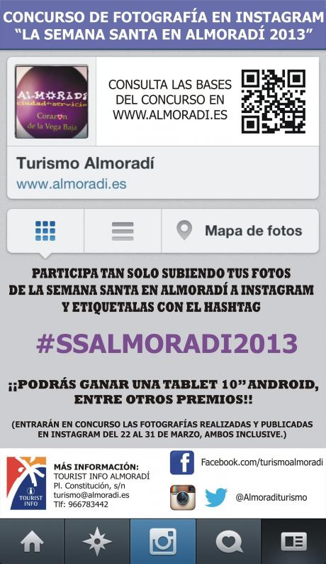"""Concurso Fotográfico en Instagram """"La Semana Santa en Almoradí"""""""