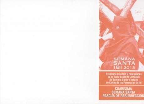 PROGRAMA ACTOS SEMANA SANTA 2013 IBI