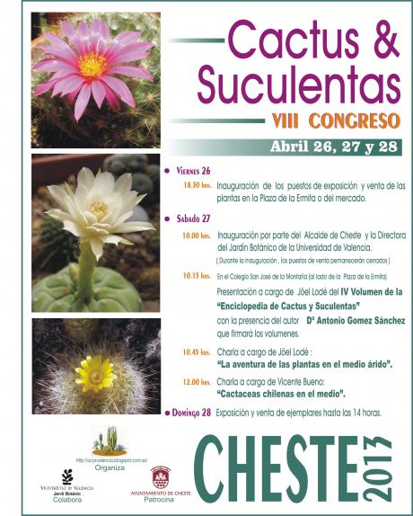 VIII Congreso de Cactus y Suculentas de Cheste 2013