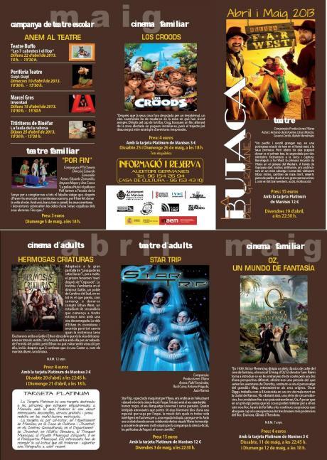 Teatro en Manises -abril y mayo 2013