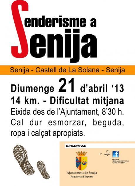 Senderismo en Senija.