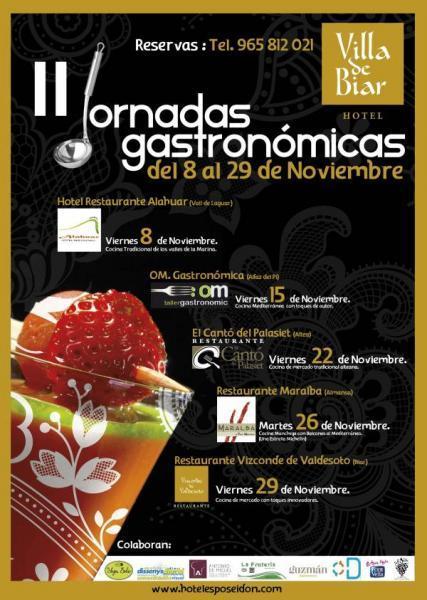 II Jornadas Gastronómicas Hotel Villa de Biar