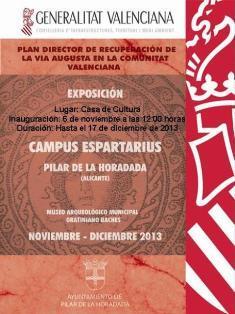 Exposición Plan Director de Recuperación de la Vía Augusta en la Comunidad Valenciana en Pilar de la Horadada
