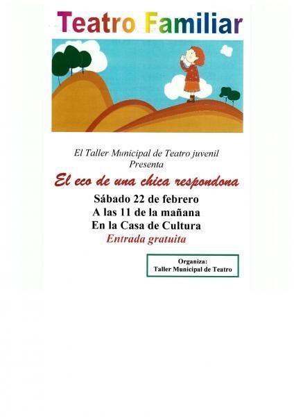 Obra de teatro: El eco de una chica respondona, de Ramón García Dominguez en Pilar de la Horadada