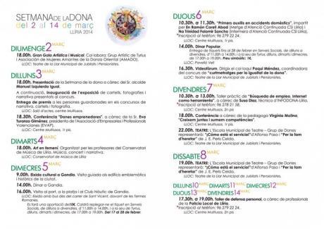 Setmana de la Dona Llíria 2014
