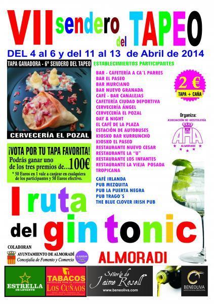 7º Sendero del Tapeo y 1ª Ruta del Gin Tonic en Almoradí