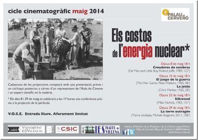 Ciclo de cine y conferencias «Los costes de la energía nuclear» en el Palau de Cerveró
