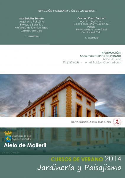 Jardineria y Paisajismo. Cursos de Verano 2014. Aielo de Malferit