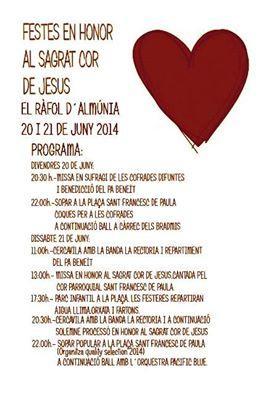 Fiestas del Sagrado Corazón de Jesús en el Ràfol d'Almunia 2014