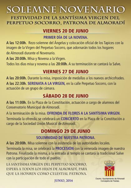 Festividad de la Stma. Virgen del Perpetuo Socorro, Patrona de Almoradí