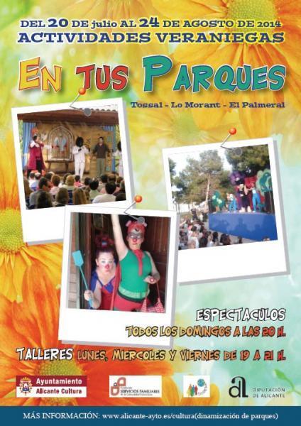 Actividades veraniegas en tus parques 2014