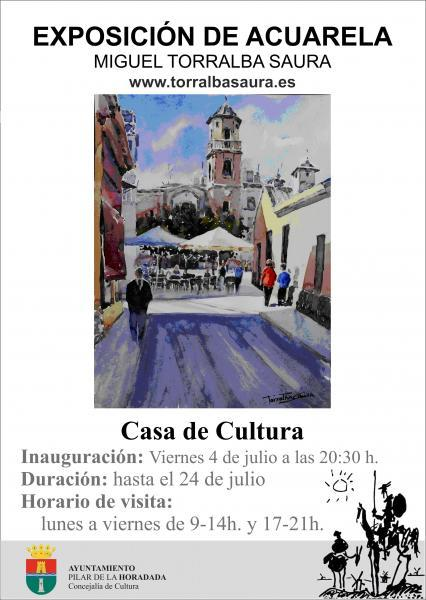 Exposición de Acuarela de Miguel Torralba Saura en Pilar de la Horadada 2014