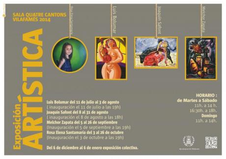 Exposición Artística. Vilafamés 2014.