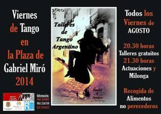 Tango en la Plaza Gabriel Miró de Alicante 2014